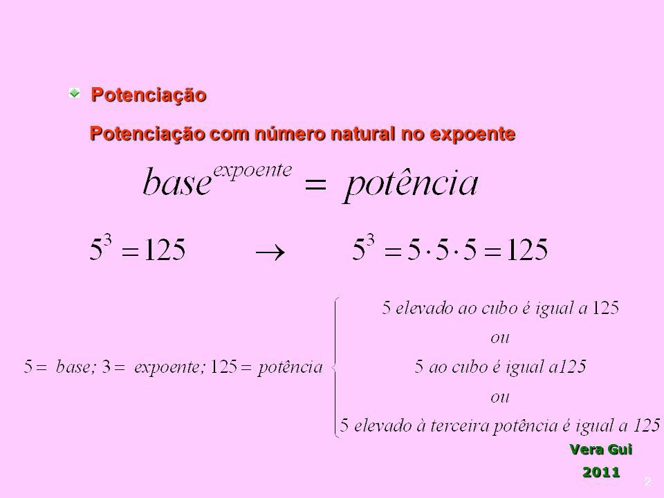 Vera Gui 2011Potenciação 2 Potenciação com número natural no expoente
