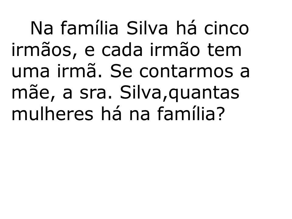 Na família Silva há cinco irmãos, e cada irmão tem uma irmã. Se contarmos a mãe, a sra. Silva,quantas mulheres há na família?