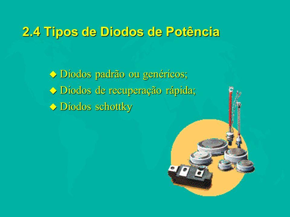 RESUMO u Diodos Schottky; Apesar de um diodo Schottky comportar-se como um diodo de junção pn, não há junção física; e como resultado o diodo Schottky é um dispositivo de portadores majoritários.