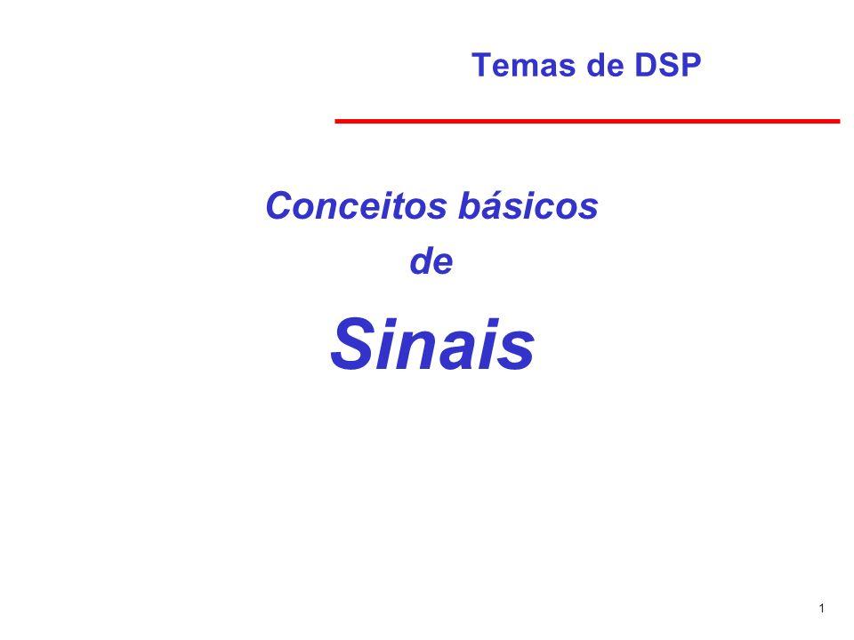 1 Temas de DSP Conceitos básicos de Sinais