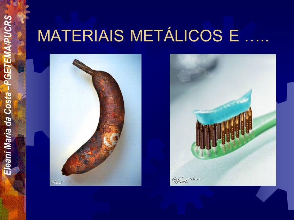 Eleani Maria da Costa –PGETEMA/PUCRS Quais os critérios que um engenheiro deve adotar para selecionar um material entre tantos outros.