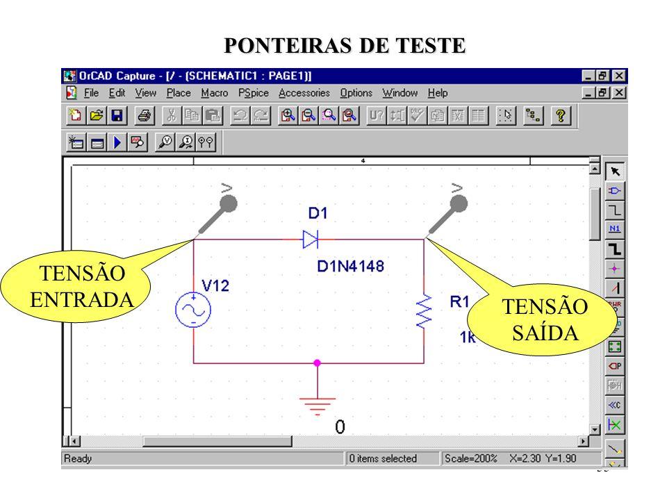33 TENSÃO ENTRADA TENSÃO SAÍDA PONTEIRAS DE TESTE