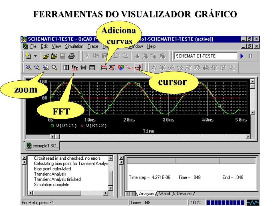 37 cursor zoom FFT Adicionacurvas FERRAMENTAS DO VISUALIZADOR GRÁFICO