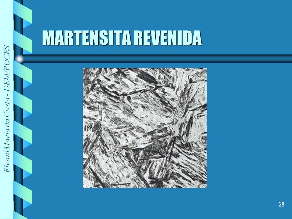 Eleani Maria da Costa - DEM/PUCRS 28 MARTENSITA REVENIDA
