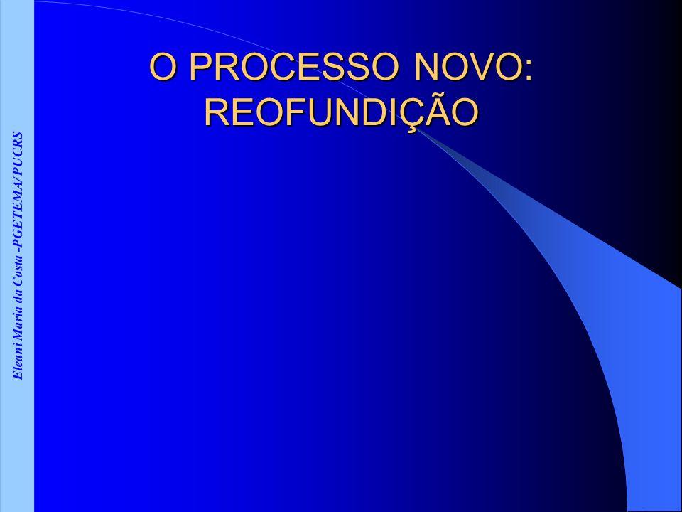 Eleani Maria da Costa -PGETEMA/ PUCRS O PROCESSO NOVO: REOFUNDIÇÃO