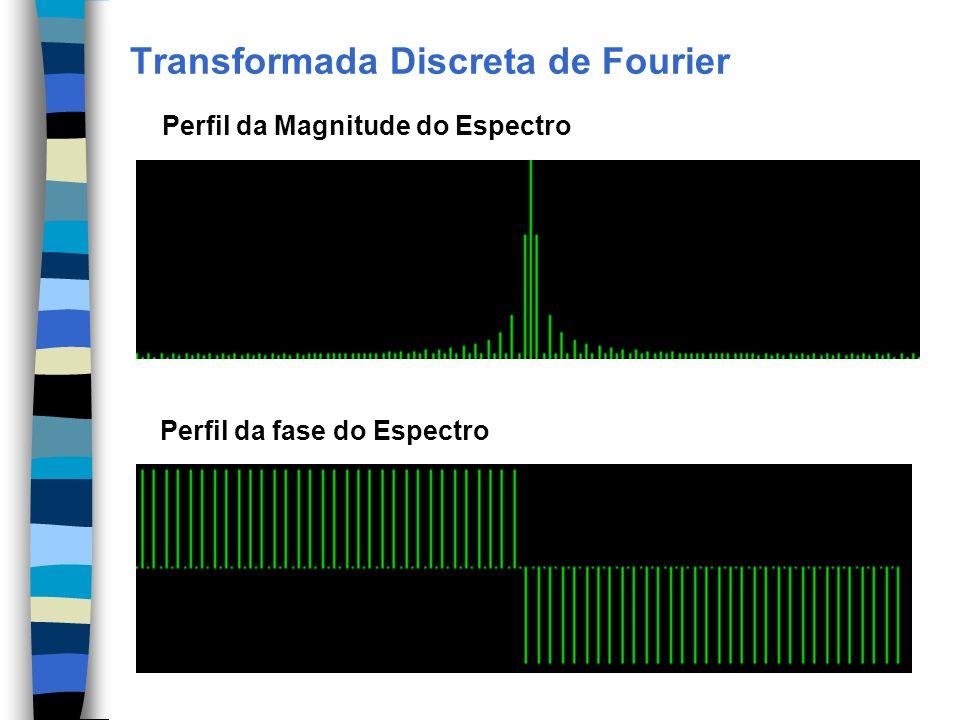 Transformada Discreta de Fourier Perfil da Magnitude do Espectro Perfil da fase do Espectro