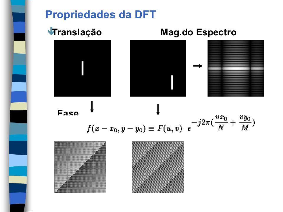 Propriedades da DFT êTranslaçãoMag.do Espectro Fase