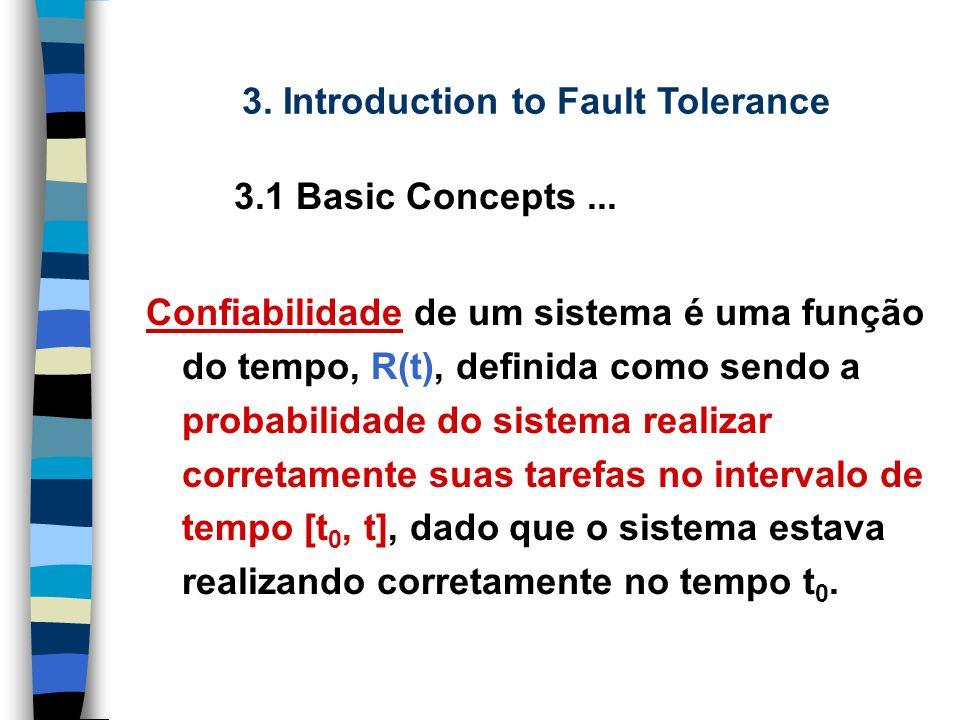 Tolerância a falha é a habilidade de um sistema de continuar a realizar corretamente as suas tarefas depois da ocorrência de falhas.