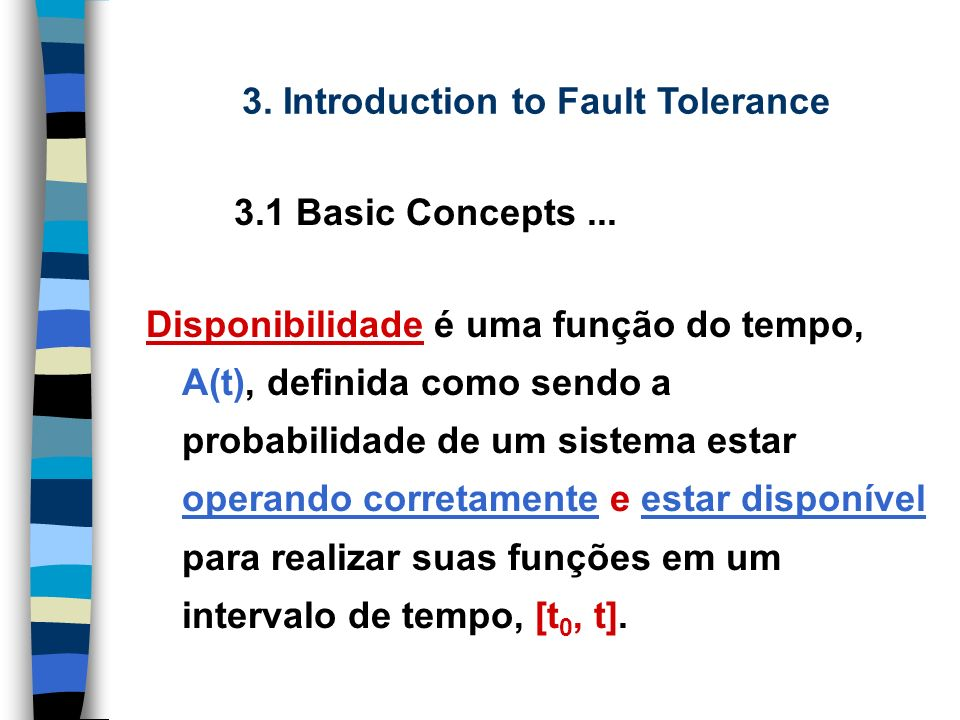 3.Introduction to Fault Tolerance 1.