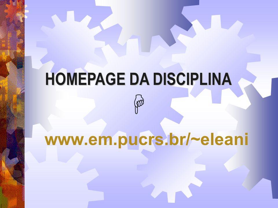 Eleani Maria da Costa - DEM/PUCRS DATAS DAS PROVAS TURMAS 3JK 12/04 : PROVA 1 17/05 : PROVA 2 21/06: PROVA 3 28/06 : PROVA DE RECUPERAÇÃO 05/07: EXAME
