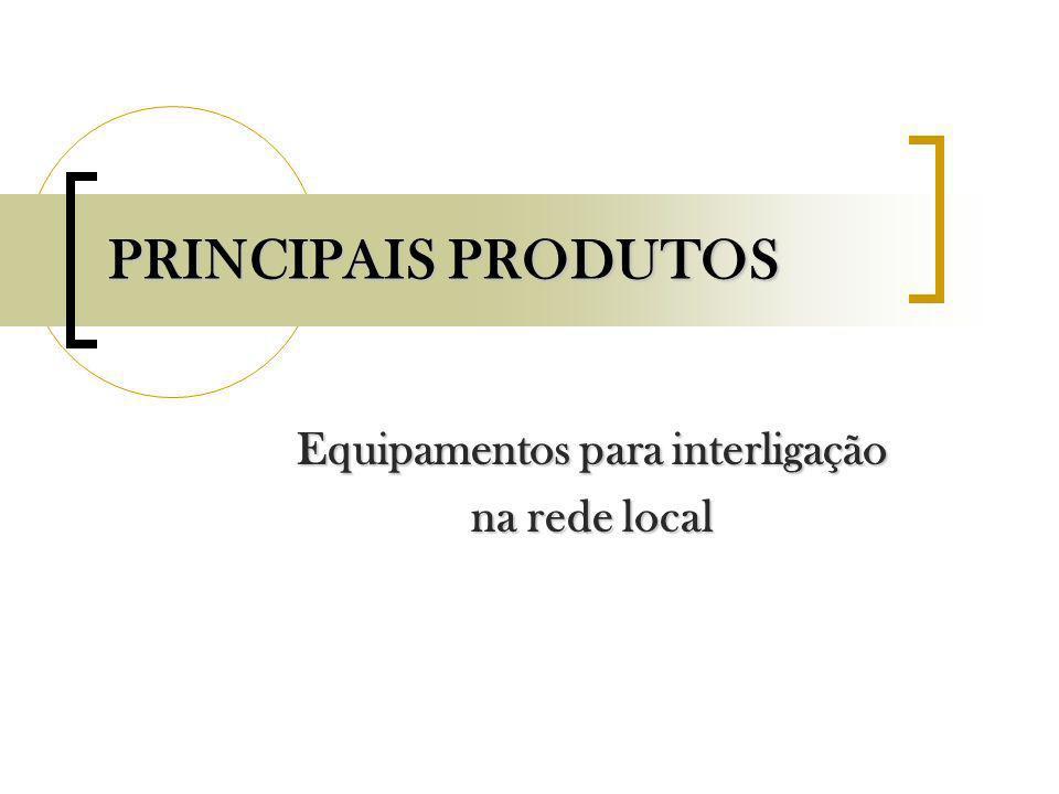 PRINCIPAIS PRODUTOS Equipamentos para interligação na rede local