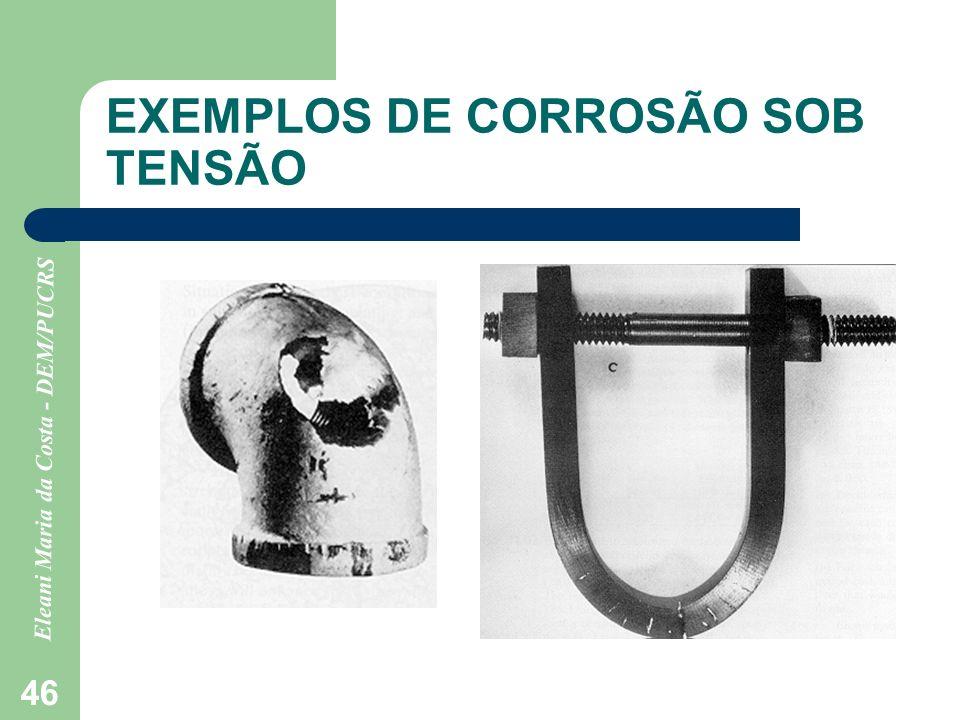 Eleani Maria da Costa - DEM/PUCRS 46 EXEMPLOS DE CORROSÃO SOB TENSÃO