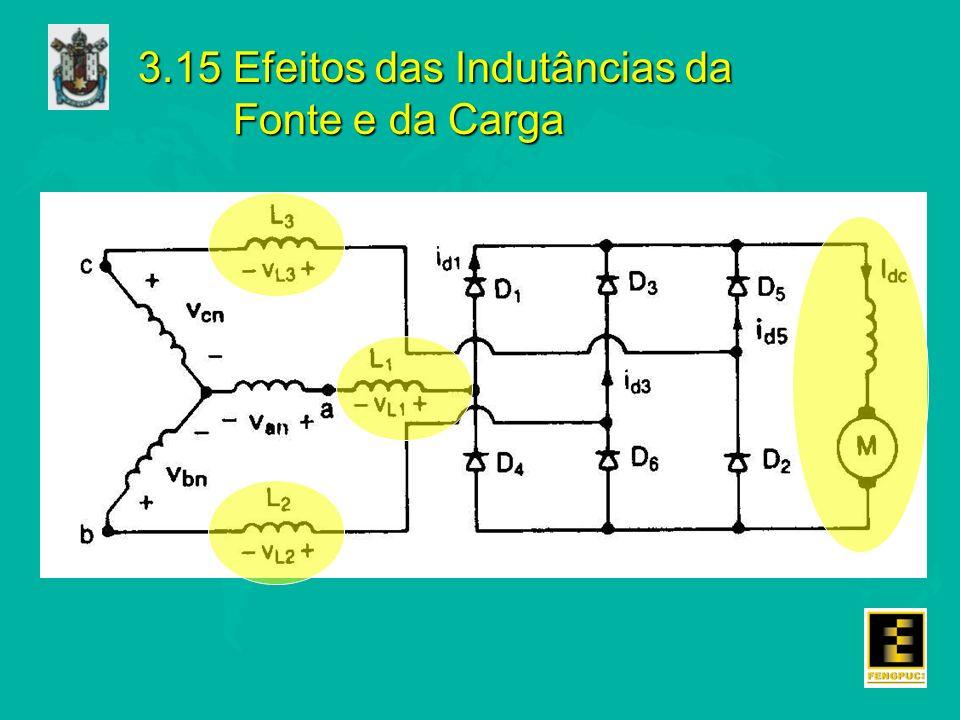 3.15 Efeitos das Indutâncias da Fonte e da Carga