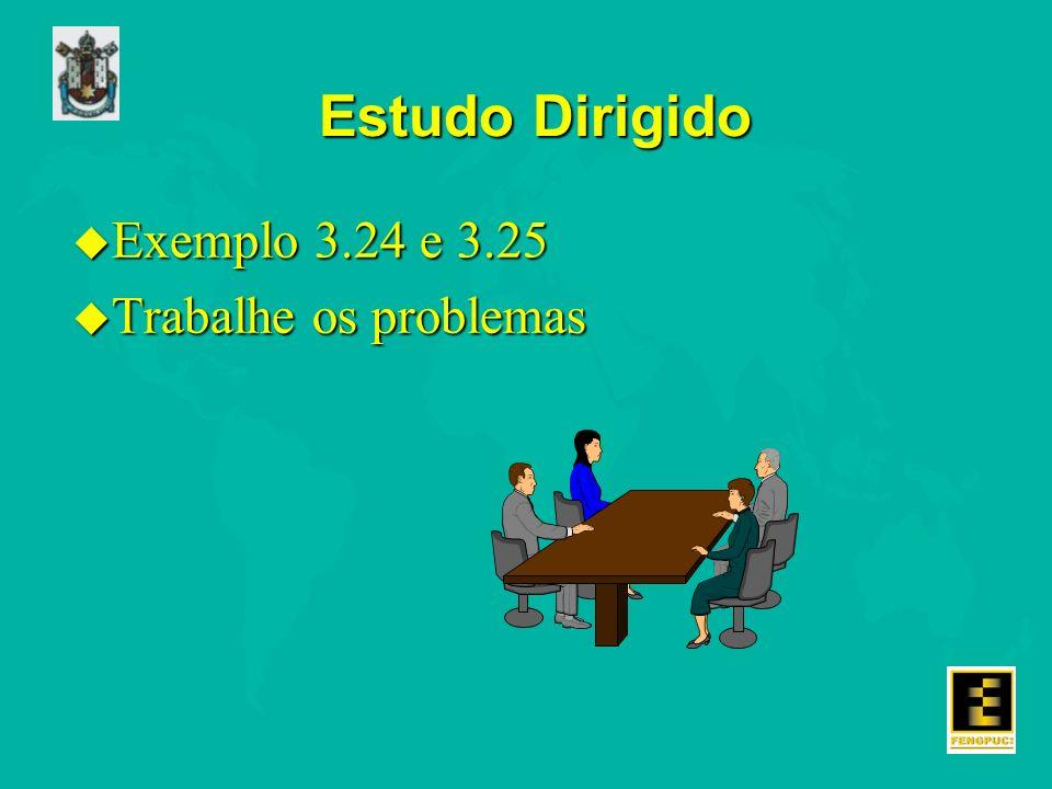 Estudo Dirigido u Exemplo 3.24 e 3.25 u Trabalhe os problemas