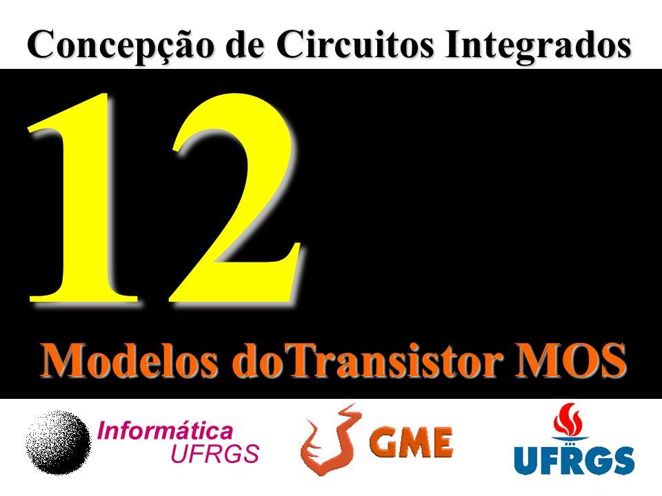 Concepção de Circuitos Integrados Informática UFRGS12 Modelos doTransistor MOS