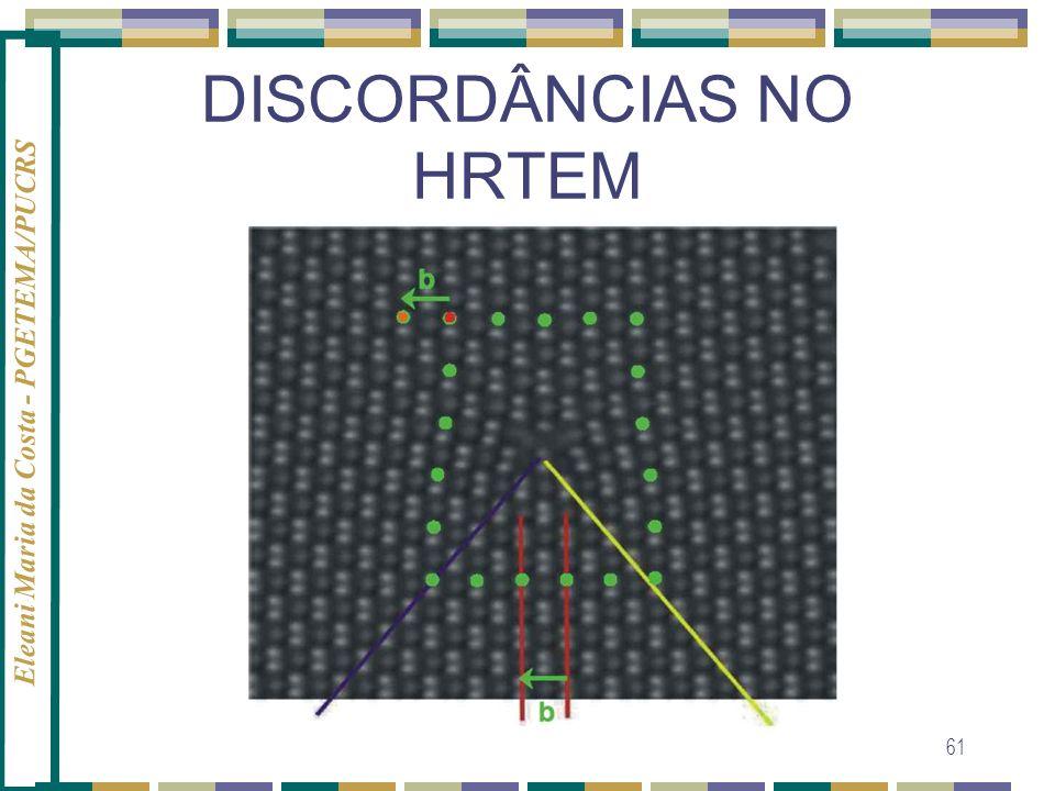 Eleani Maria da Costa - PGETEMA/PUCRS 61 DISCORDÂNCIAS NO HRTEM