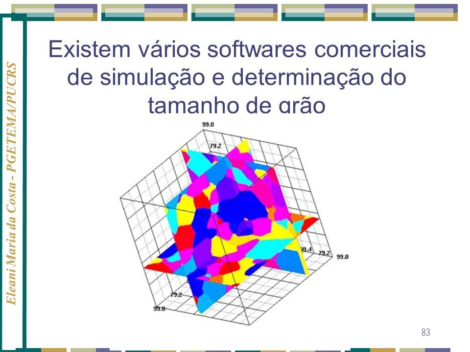 Eleani Maria da Costa - PGETEMA/PUCRS 83 Existem vários softwares comerciais de simulação e determinação do tamanho de grão