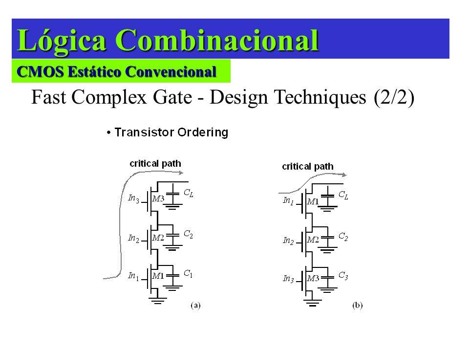 Lógica Combinacional Fast Complex Gate - Design Techniques (2/2) CMOS Estático Convencional
