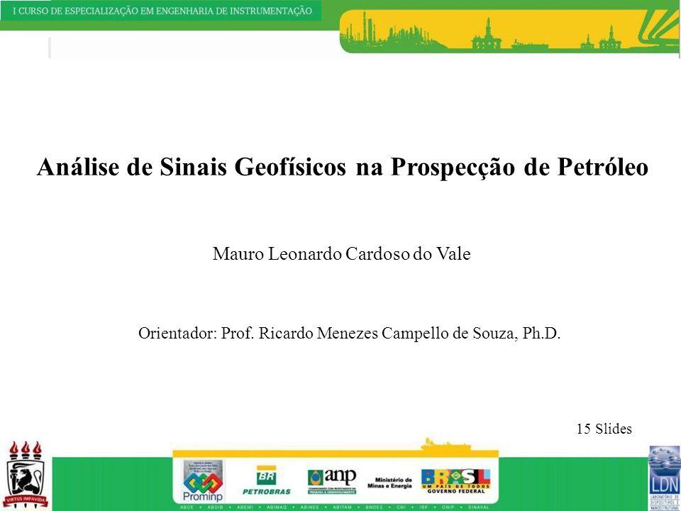 Análise de Sinais Geofísicos na Prospecção de Petróleo Mauro Leonardo Cardoso do Vale Orientador: Prof. Ricardo Menezes Campello de Souza, Ph.D. 15 Sl