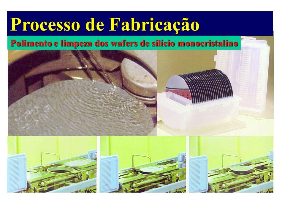 Polimento e limpeza dos wafers de silício monocristalino Processo de Fabricação