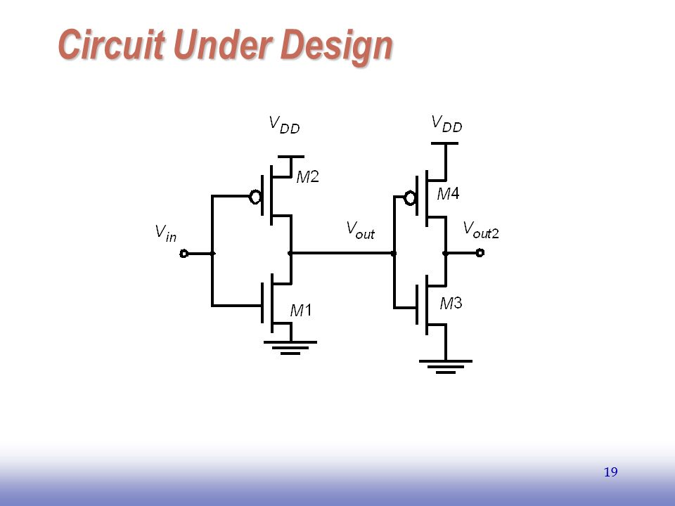 EE141 19 Circuit Under Design 19