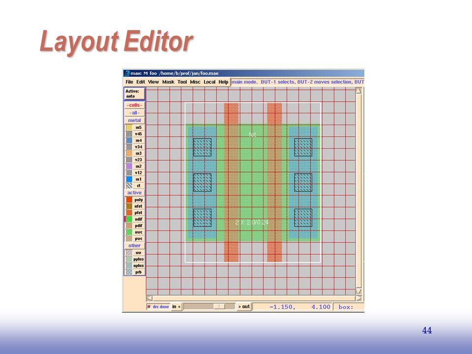 EE141 44 Layout Editor 44