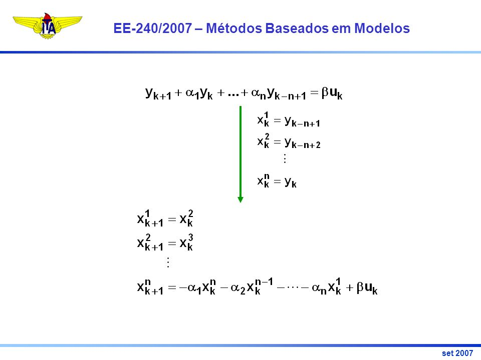 EE-240/2007 – Métodos Baseados em Modelos set 2007 Resíduo
