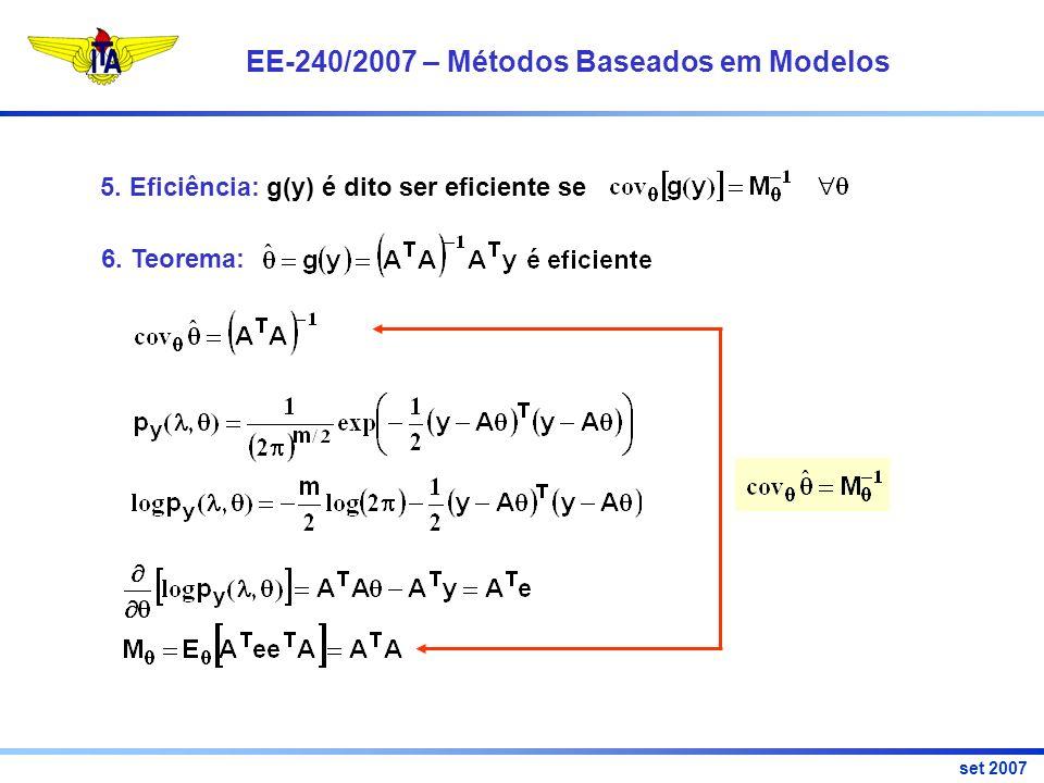 EE-240/2007 – Métodos Baseados em Modelos set 2007 5.