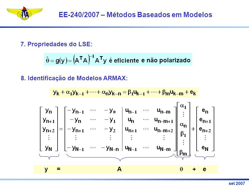 EE-240/2007 – Métodos Baseados em Modelos set 2007 7.