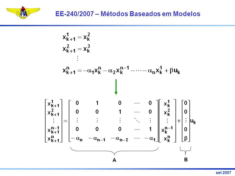 EE-240/2007 – Métodos Baseados em Modelos set 2007 Muito Obrigado!