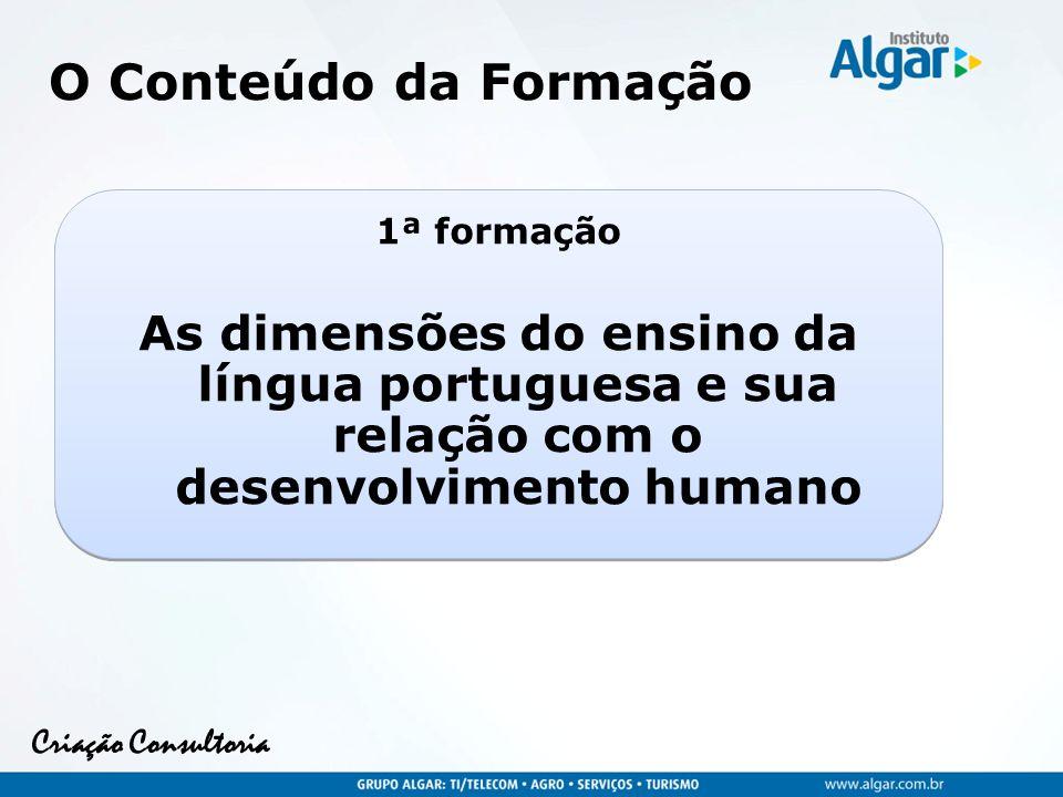 Criação Consultoria Dimensões do Ensino da Língua Portuguesa Leitura Análise Lingüística Oralidade Escrita
