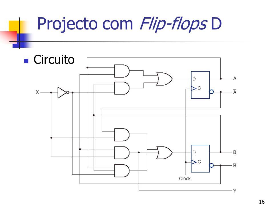 16 Projecto com Flip-flops D Circuito