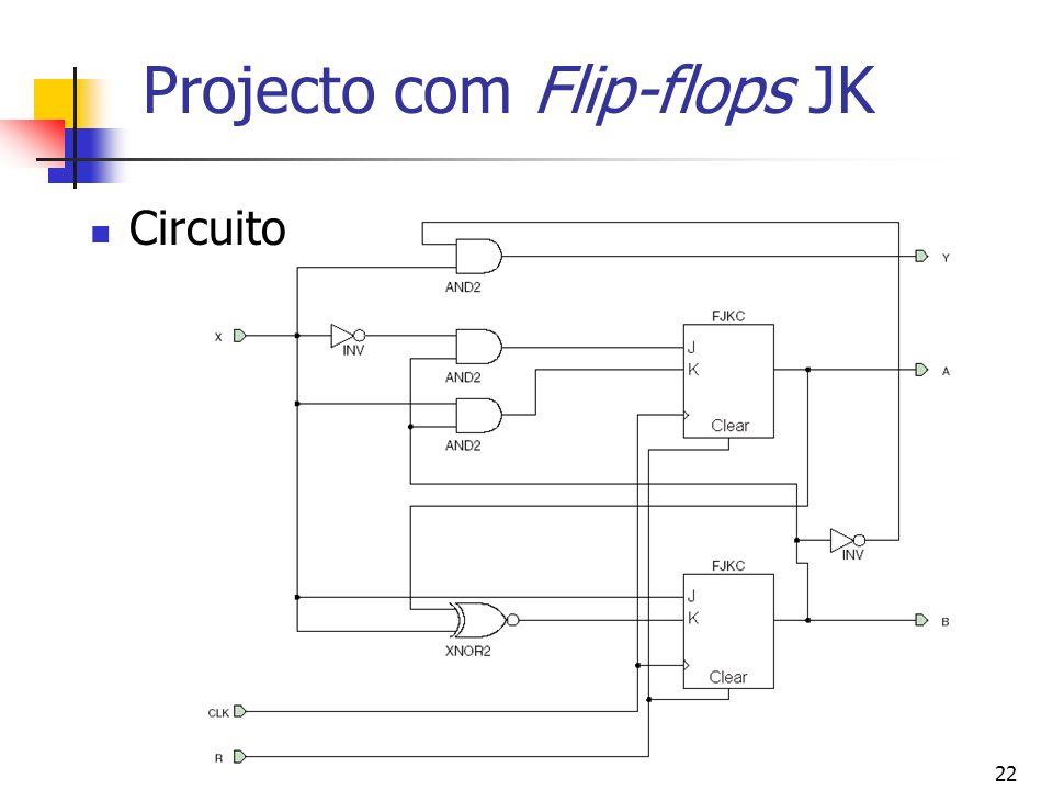 22 Projecto com Flip-flops JK Circuito