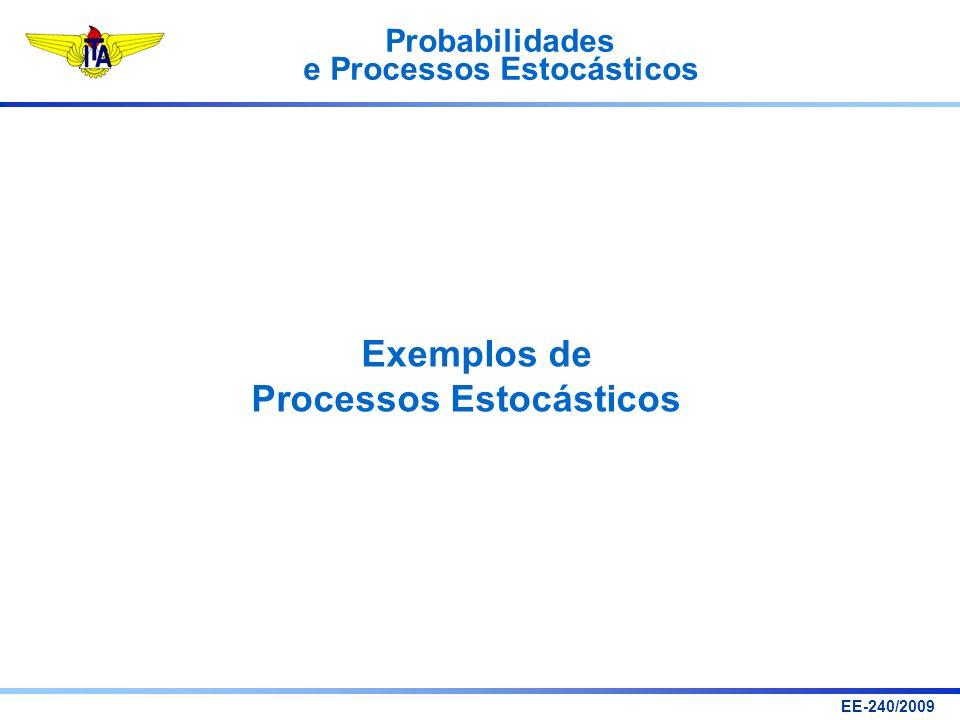 Probabilidades e Processos Estocásticos EE-240/2009 Exemplos de Processos Estocásticos
