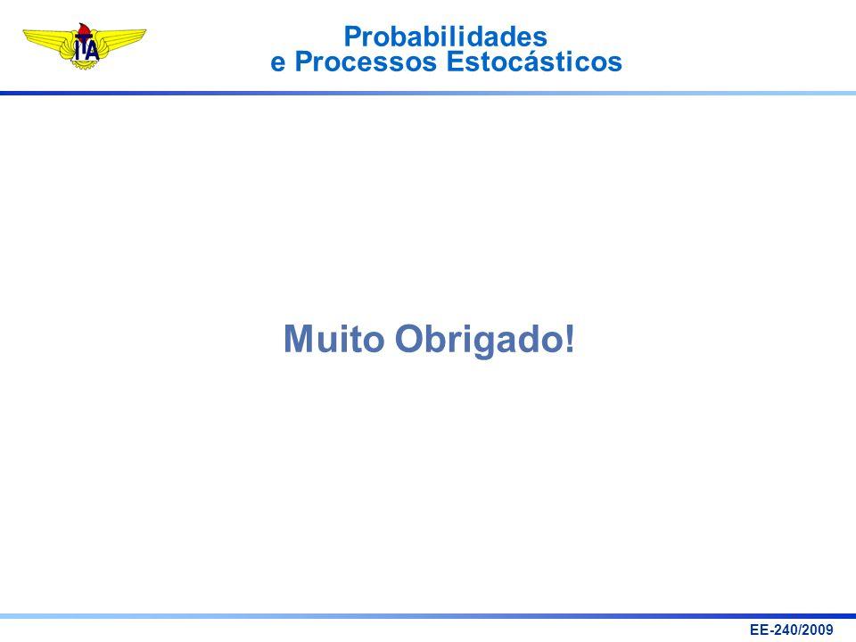 Probabilidades e Processos Estocásticos EE-240/2009 Muito Obrigado!
