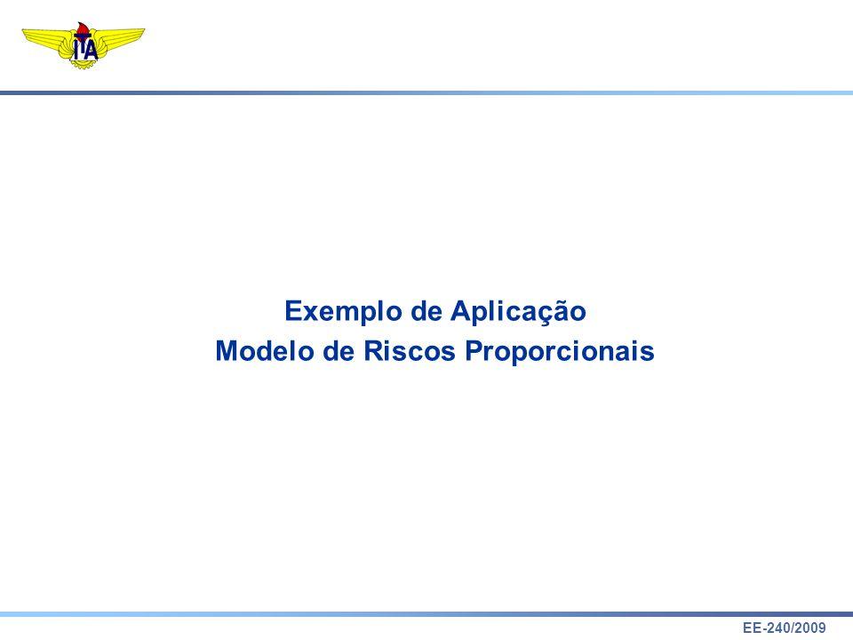 EE-240/2009 Proportional Hazards Model Exemplo de Aplicação Modelo de Riscos Proporcionais