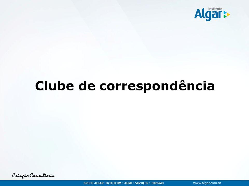 Criação Consultoria Clube de correspondência