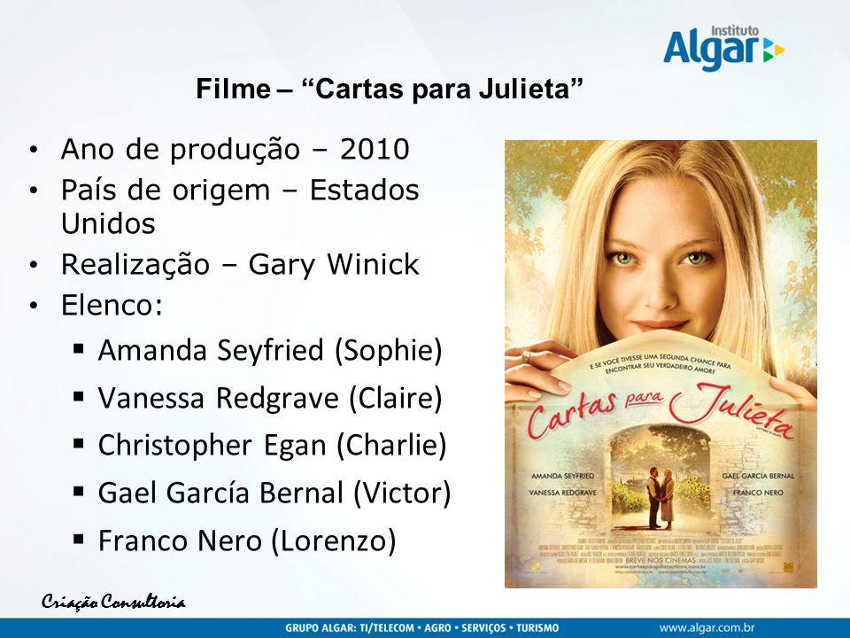 Criação Consultoria Ano de produção – 2010 País de origem – Estados Unidos Realização – Gary Winick Elenco: Amanda Seyfried (Sophie) Vanessa Redgrave