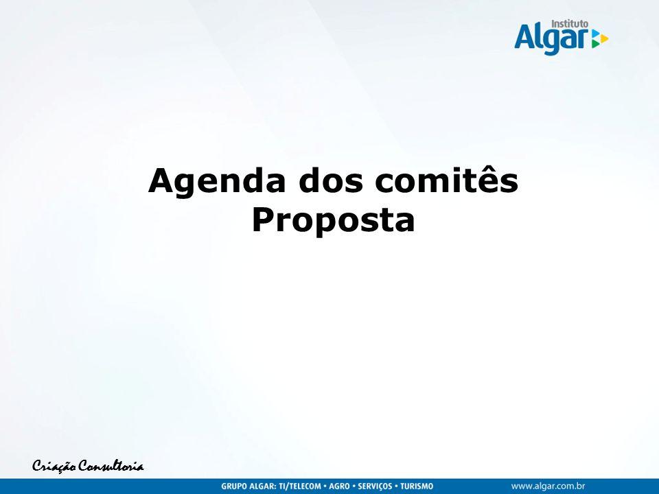 Criação Consultoria Agenda dos comitês Proposta
