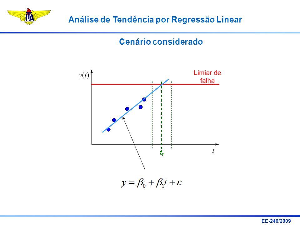 EE-240/2009 Análise de Tendência por Regressão Linear Cenário considerado tftf