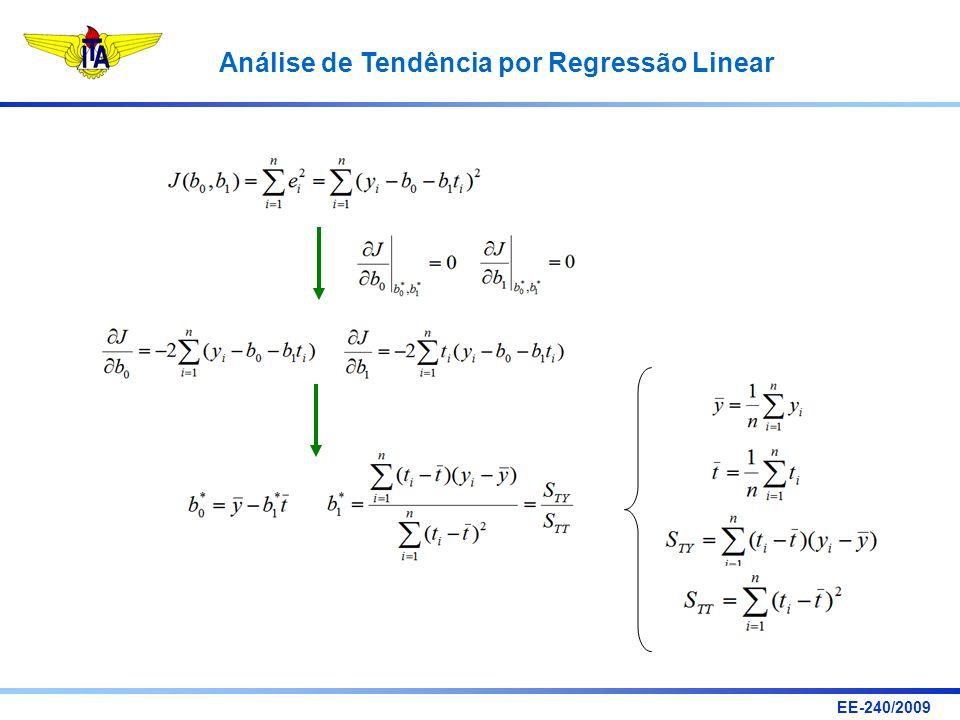 EE-240/2009 Análise de Tendência por Regressão Linear