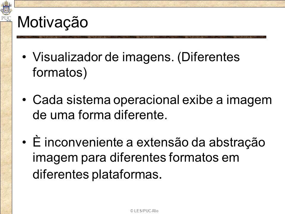 © LES/PUC-Rio Motivação Visualizador de imagens. (Diferentes formatos) Cada sistema operacional exibe a imagem de uma forma diferente. È inconveniente