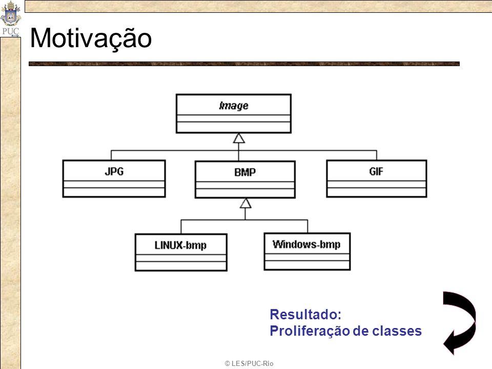 © LES/PUC-Rio Motivação –Formato de uma imagem (estrutura e representação) –A forma como a imagem é exibida varia entre Sistemas operacionais, porém a sua estrutura é a mesma.