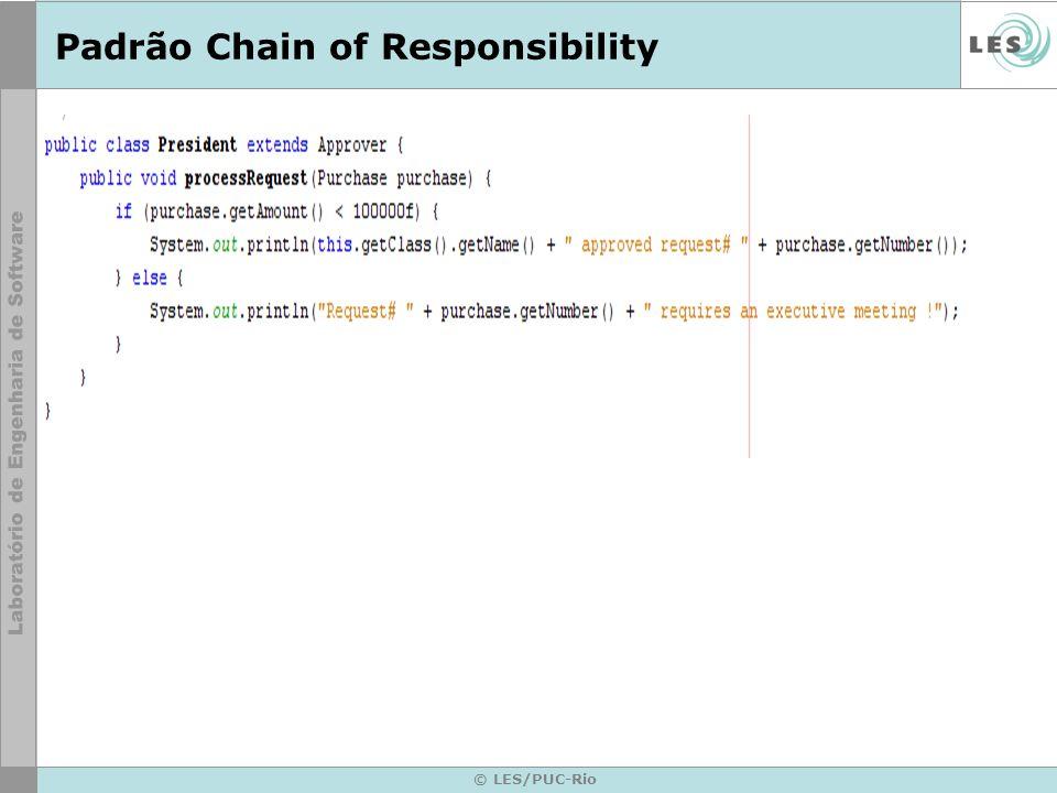 Padrão Chain of Responsibility © LES/PUC-Rio