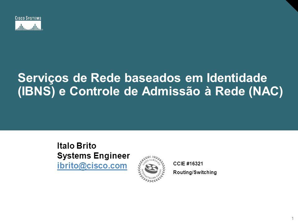 2 Agenda Introdução Operação do 802.1x 802.1x não se limita a autenticação Network Admission Control (NAC) Conclusão