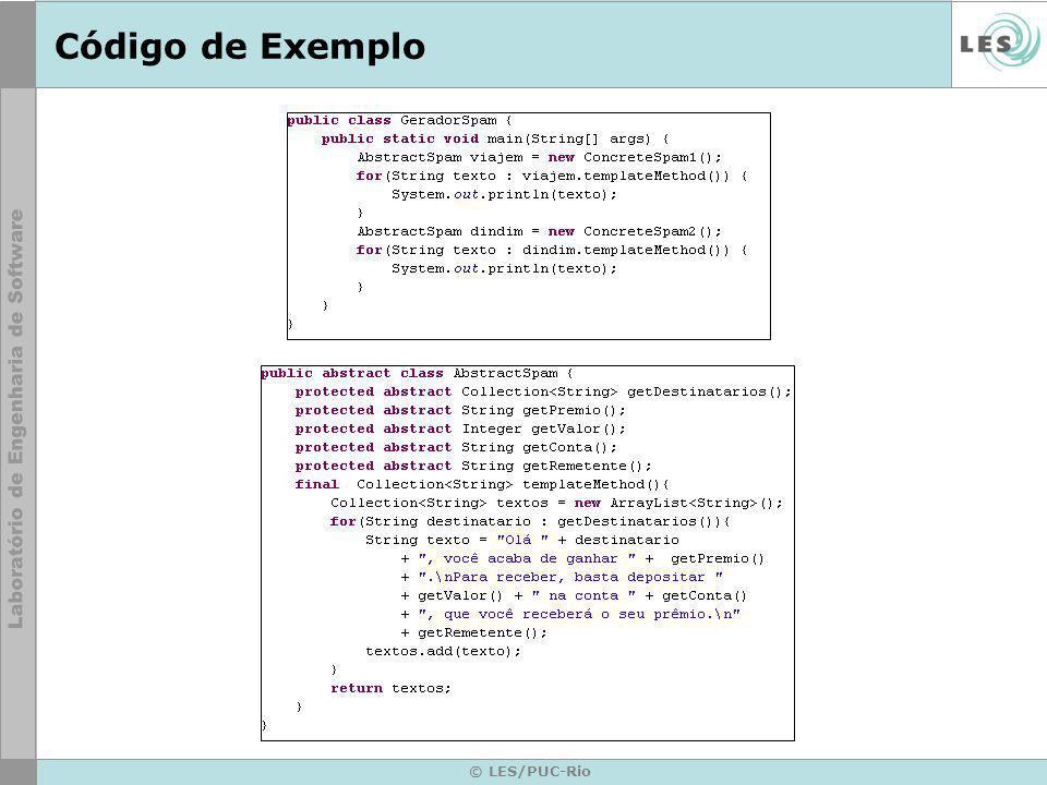 © LES/PUC-Rio Código de Exemplo