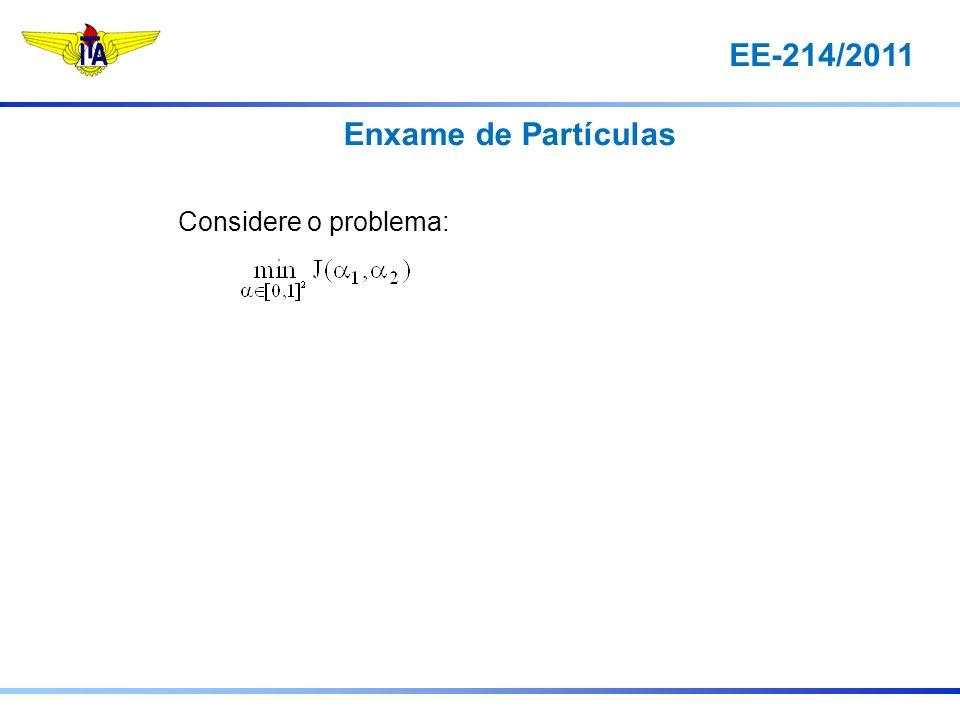 EE-214/2011 Enxame de Partículas Considere o problema: