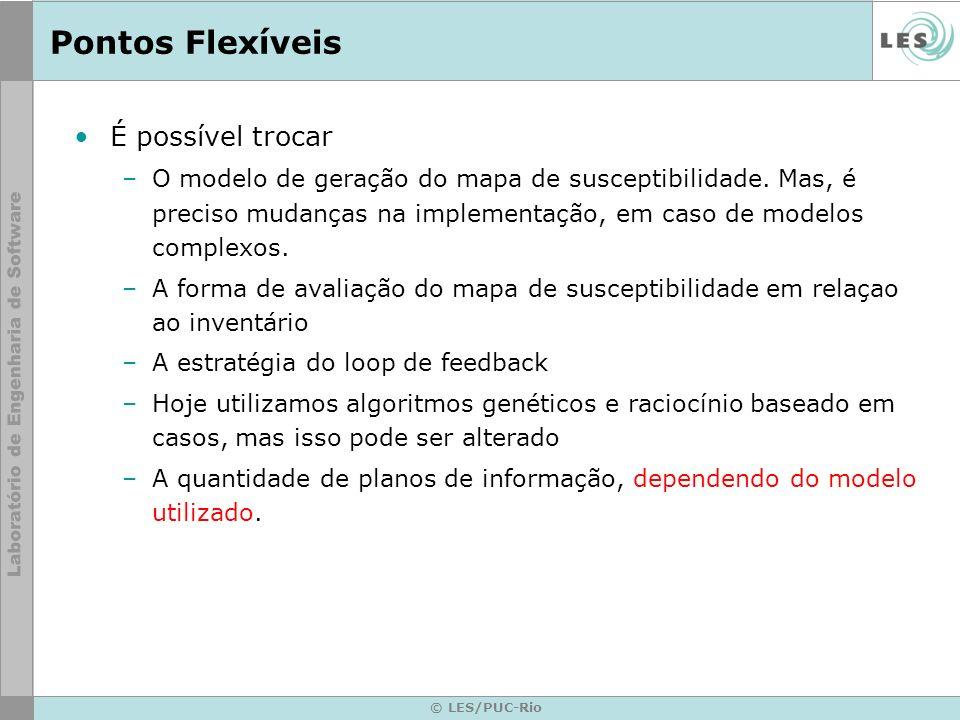 © LES/PUC-Rio Pontos Flexíveis É possível trocar –O modelo de geração do mapa de susceptibilidade. Mas, é preciso mudanças na implementação, em caso d