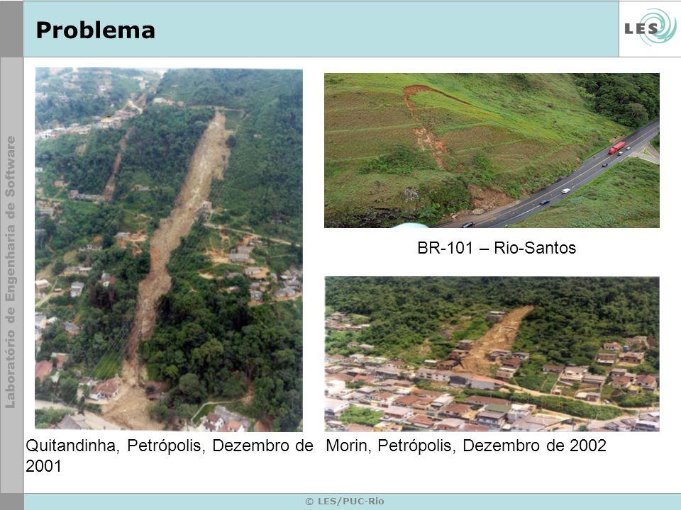 © LES/PUC-Rio Problema BR-101 – Rio-Santos Quitandinha, Petrópolis, Dezembro de 2001 Morin, Petrópolis, Dezembro de 2002