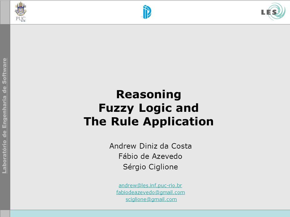 © LES/PUC-Rio Lógica Fuzzy Passo 5: Defuzzificação –Consiste em retornar os valores; –Obter um valor numérico dentro da faixa estipulada pela lógica fuzzy.